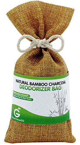 Buy More Save More Great Value SG Natural Bamboo Charcoal Deodorizer Bag Effective Portable Air Purifier and Odor Eliminator for Home Car Air Freshener Smoke Smell Remover Prevent Mold and Mildew (Golden Brown) Deodorizing Bath