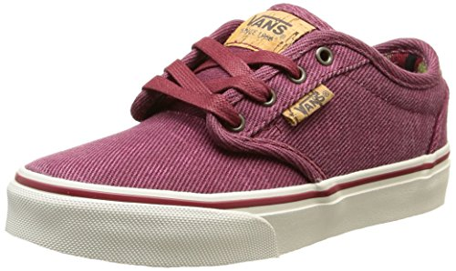 Vans Atwood Deluxe - Scarpe da Ginnastica Basse Bambino, Rosso (washed Twill/red/marshmallow), 37 EU