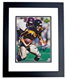 Autographed Waddle Picture - Pittsburgh Steelers 8x10 BLACK CUSTOM FRAME - Autographed NFL Photos at Amazon.com
