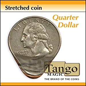 Stretched Coin Quarter dollar by Tango - Trick
