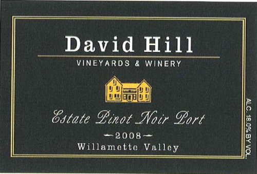 2008 David Hill Estate Pinot Noir Port, Willamette Valley Oregon 375 Ml
