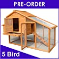 CHICKEN COOP HEN HOUSE POULTRY ARK HOME NEST RUN COUP M - Suitable for upto 5 Birds - INTEGRATED RUN & CLEANING TRAY & INNOVATIVE LOCKING MECHANISM - (COOP ROOSTER MEDIUM) (NATURAL)