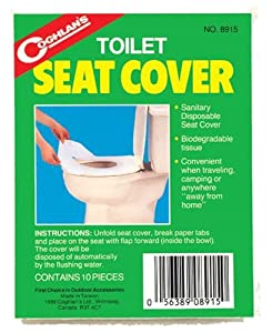 Coghlan's 8915 Toilet Seat Cover, (Pack of 10)