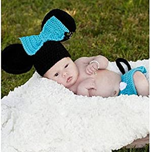 Jastore® Photography Prop Cute Mouse Knitted Crochet Costume Cap Diaper