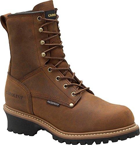 "Men'S Carolina® 8"" 600 Grams Thinsulate™ Insulated Steel Toe Logger Boots Copper, Copper, 10.5"