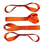 Soft Loops Tie-Down Straps (4-Pack) --> 1,200 lb. Working Load Capacity --> Factory Tested at 2,272 lb. Break Strength (<<< See Testing Photo in Sidebar) Safety Neon Orange Color - Protects Your ATV, Snowmobile, UTV, Motorcycle and Lawn/Garden Equipment from Scratches When Using Tie-Downs