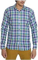 Oshano Men's Casual Shirt (OSH_008_s, Multi-Coloured, s)