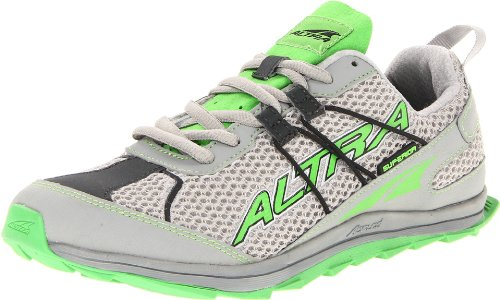 Altra Women's Superior Trail Running Shoe,Light Grey/Green,7 M US