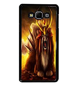PrintDhaba Fantasy Creature D-1127 Back Case Cover for SAMSUNG GALAXY A8 (Multi-Coloured)