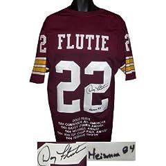Autographed Doug Flutie Jersey - Maroon Custom Heisman 84 w Embroidered Stats JSA...