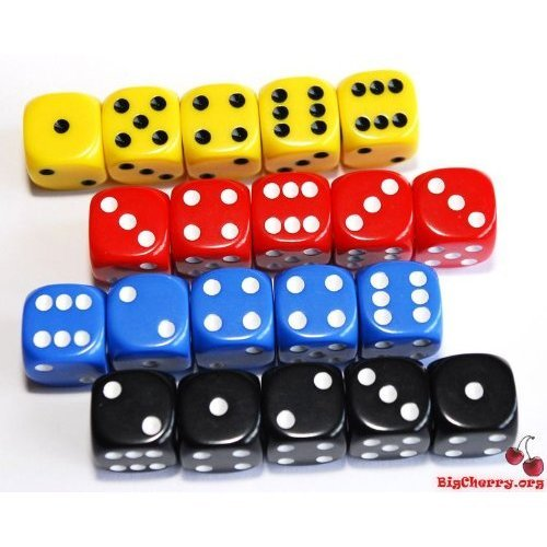5-dice-x-4-colours-16mm-dice-set-4-players-for-poker-dice-yahtzee-yacht-generala-balut-etc-by-forlor
