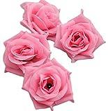 バラ 造花 ローズ 薔薇 アレンジ 8センチ 50個セット 結婚式 2次会 パーティー ブライダルイベントに (ローズピンク)