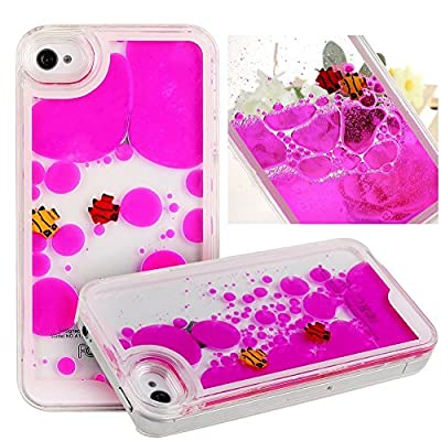 Eforstore Sparkly Cases for iPhone 5s Flowing Liquid Water iPhone 5 Case Swimming Fish Fantasy Shiny Case Cover for Apple iPhone 5 5s by Eforstore