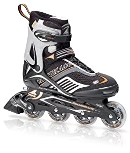 Rollerblade Spiritblade XT Men's Skate, Blk/Orange, Men's US 12