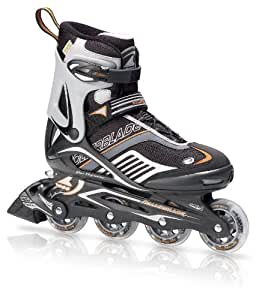 Rollerblade Spiritblade XT Men's Skate, Blk/Orange, Men's US 9