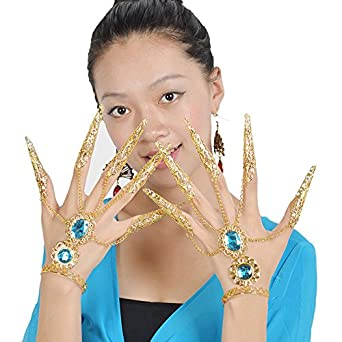 Blyyasgi (Tm) 1 Pairs Belly Dance Dancing Charming Outfit Slave Wrist Cuffs Wristband Bracelet 4 Colors