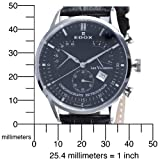 Edox Men's 01505 3 NIN Chronograph Retrograde Les Vauberts Watch