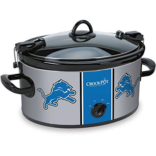 NFL-Detroit Lion 6-Quart Best Crock-Pot Slow Cooker (Crock Pot Smart Pot 7 Quart compare prices)