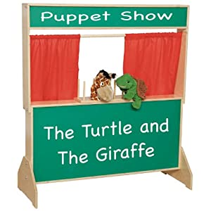 "Wood Designs WD21650 Deluxe Puppet Theater with Chalkboard, 48 x 47 x 6"" (H x W x D) from Wood Designs Co."