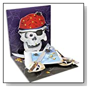 Pirate Skull Pop up Halloween Card