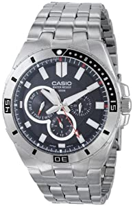 Casio Men's MTD-1060D-1AVDF Divers Analog Display Quartz Silver Watch