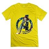 PTCY Men's T-shirt Particular The Avengers 2 UT Black Widow L Yellow