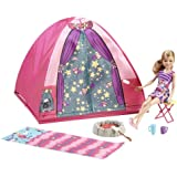 Barbie Sisters Camp Out Set with Stacie Doll, Tent, Sleeping Bag & Accessories