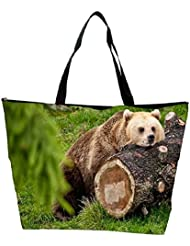 Snoogg Bear And The Wood Designer Waterproof Bag Made Of High Strength Nylon