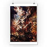 The Fall of the Damned - Masterpiece Classic - Artist: Peter Paul Rubens c. 1620 (9x12 Art Print, Wall Decor Travel Poster)