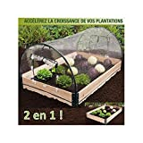 ProBache - Mini serre de jardin avec châssis bois + housse amovible