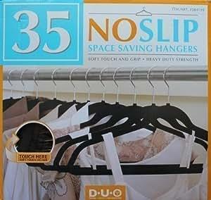Space Saving Non-Slip Hangers (35 Pieces)