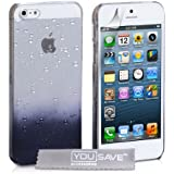 Yousave Accessories Coque pour iPhone5/5S Transparent/Noir