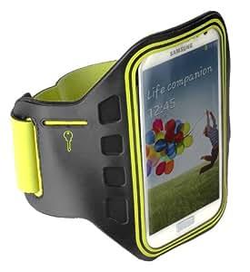 yayago Sportarmband Oberarmtasche Oberarm Tasche / Armband Sport Tasche für Samsung Galaxy S4 i9500 / S4 LTE i9505 zum Joggen / Fitness in Neon-Grün