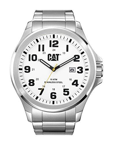 Caterpillar PU.141.11.211 - Reloj de pulsera Hombre, Acero inoxidable, color Plata