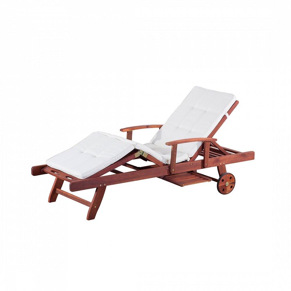 Gartenliege inkl. Auflage, beige – Liegestuhl – Sonnenliege – TOSCANA bestellen