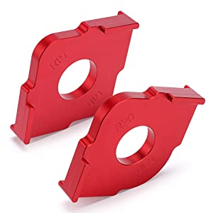 OwnMy Set of 2 Radius Jig Router Templates, Aluminium Alloy Routing Rounded Corners Router Bit Templates for Woodworking Routing, R10 R15 R20 R30