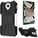 DMG Rugged Hybrid Back Cover Mesh Kickstand Armor Case For One Plus 3 (White)