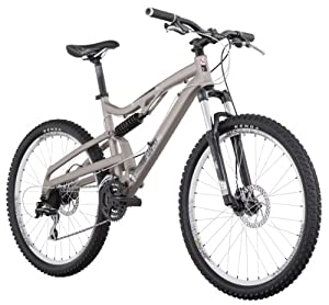 Diamondback Recoil Full Suspension Mountain Bike (26-Inch Wheels), Matte Titanium, Medium/18-Inch