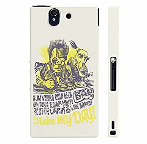 Sony Xperia Z Bar Makes My Day designer mobile hard shell case by Enthopia