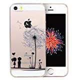 iPhone 5S Case, iPhone 5 Case, Dorami Clear Soft TPU Case with Delicate 3D Print Protective Bumper Slim Case [Maya Series][Perfect Fit][Ultra Thin] for iPhone 5/5S (Grow Together)