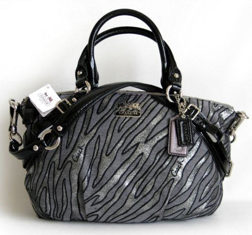 Coach Madison Lurex Zebra Sophia Satchel Bag