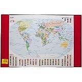 Idena 350105 Sous-main carte du monde (Import Allemagne)