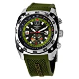 Swiss Watches:Torgoen Swiss Men's T07303 Pilot Computer Dual-Time Zone Polyurethane Strap Watch
