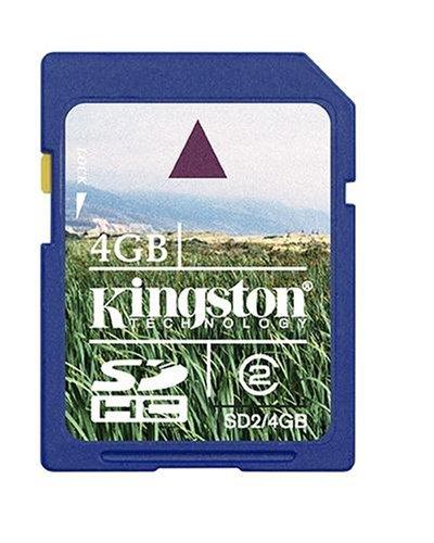 Kingston 4 Gb Sdhc Class 2 Flash Memory Card Sd2/4Gb front-972376
