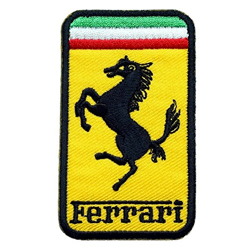 Ferrari embroidered iron on patch sew car logo clothes