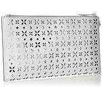 Michael Kors Women's, Jet Set Travel  Clutch, Multicoloured (White/Silver 764) - more-bags