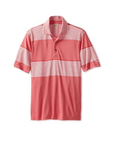 IZOD Golf Men's Oxford Engineered Stripe Polo