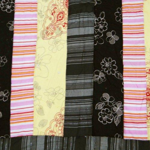 artigianale nero bambino trapunta di cotone letto reversibile copriletto decorazioni per la casa decorativo dono gudri india 49