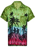 Hawaiian Shirt Mens Loud Aloha Funky Hawaii Holiday Beach Classic Beer Stag Palm Tree Cali Tiki Taka Summer Party Caribbean Short Sleeve Biker BBQ S M L XL XXL 6 Colours - Free Shipping!