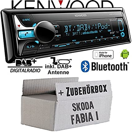 Skoda Fabia 1 - Kenwood KDC-X7000DAB - Bluetooth | CD | MP3 | USB | DAB+ Digitalradio Autoradio inkl. DAB Antenne - Einbauset